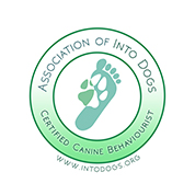 Certification logo: Association of Into Dogs: Certified Canine Behaviourist