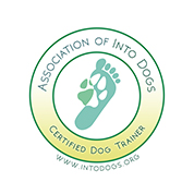 Certification logo: Association of Into Dogs: Certified Dog trainer